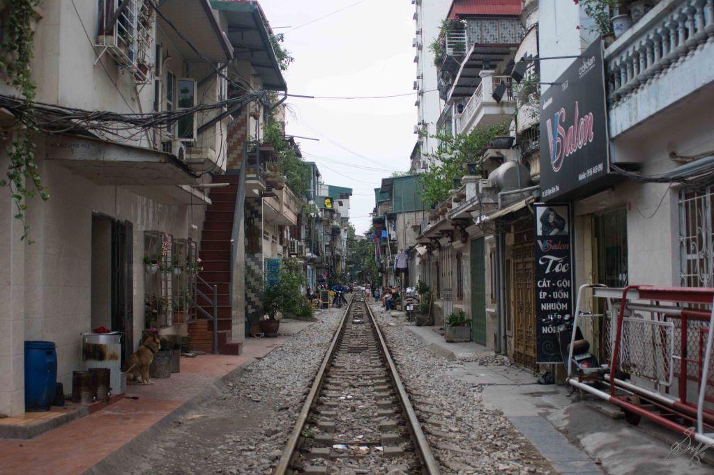 Train Street, Hanoi, Vietnam