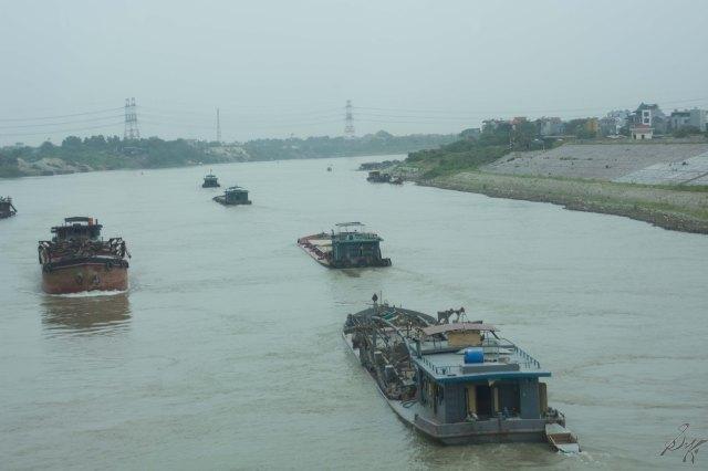 The Red River, Hanoi, Vietnam