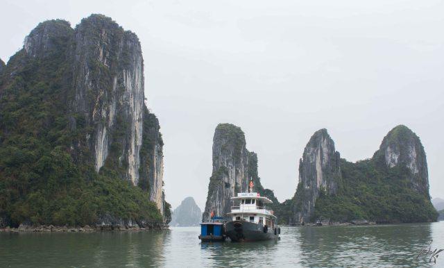 Towards the fishing village, Ha Long Bay, Vietnam