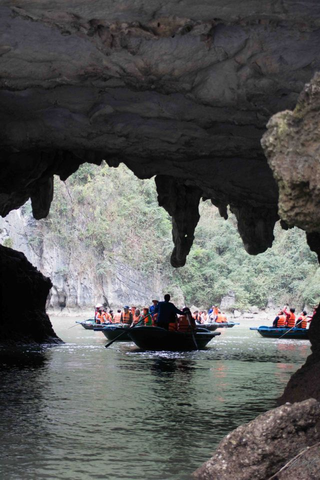 Through a cave, Ha Long Bay, Vietnam