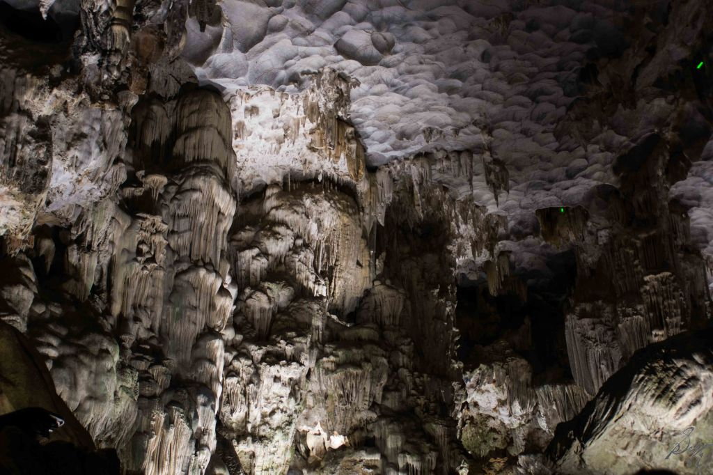 Limestone formations in the cave, Ha Long Bay, Vietnam