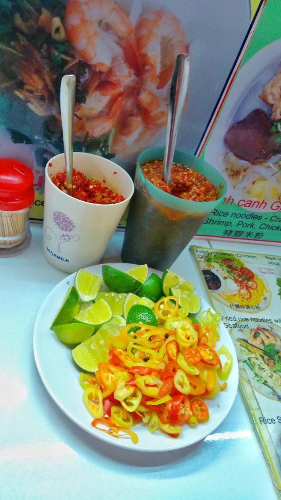 Condiments for Banh Mi, Ben Thanh Market, Saigon