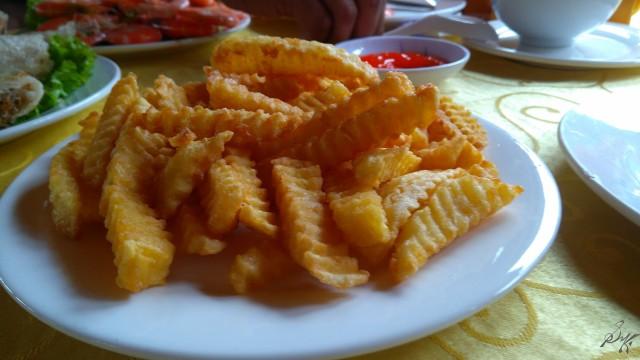Fried potatoes, Ha Long Bay, Vietnam