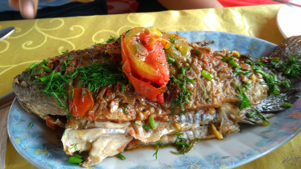 Full cooked fish, Ha Long Bay, Vietnam