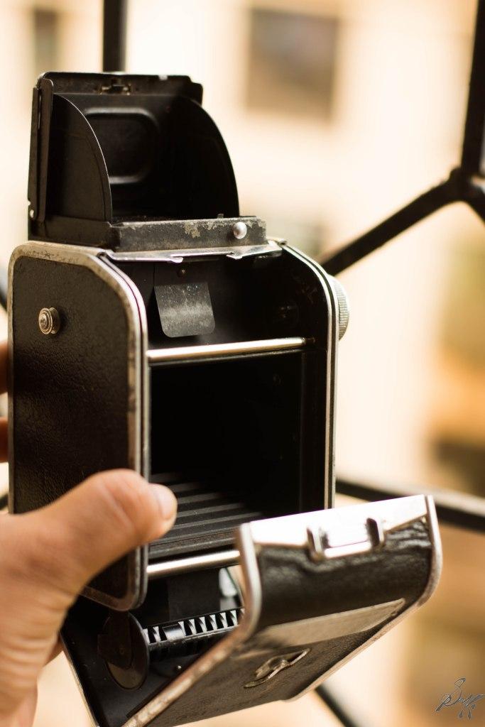 Back view of a TLR Camera, Mumbai, India