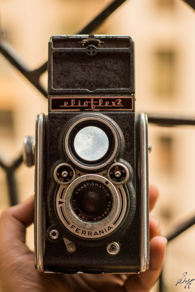 Front view of a TLR Camera, Mumbai, India