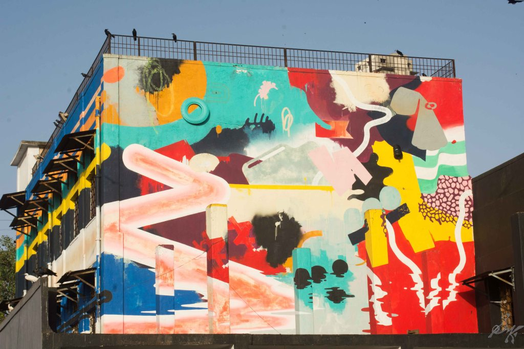 Wall art at Sassoon Docks, Mumbai, India