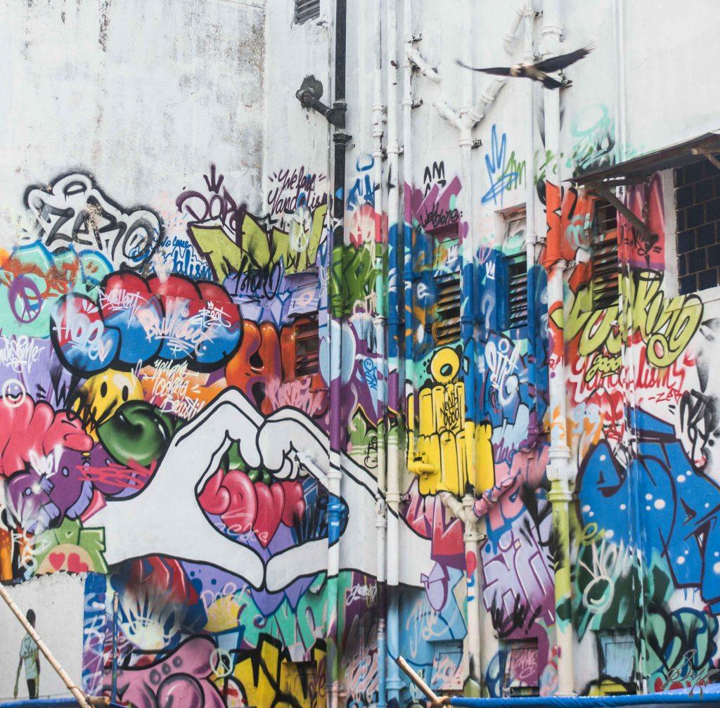 Wall art at Sassoon Docks, Mumbai, India